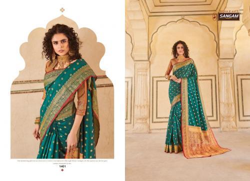Sangam Saree Morpankh 1401-1408 Series