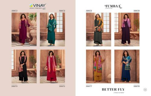 Vinay Fashion Tumbaa Butter Fly 38671-38678 Price - 8360
