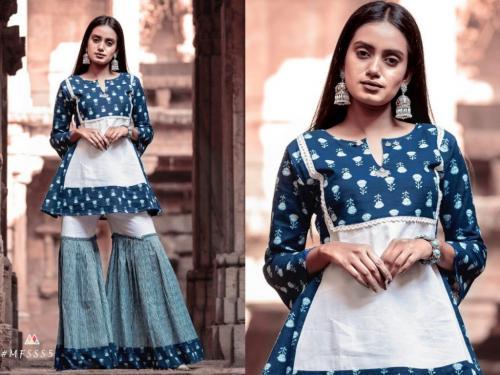 Mesmora Fashion Sharara Set S5
