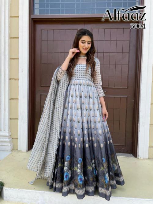 Alfaaz Vol-3 Designer Gown 3004 Price - 1399