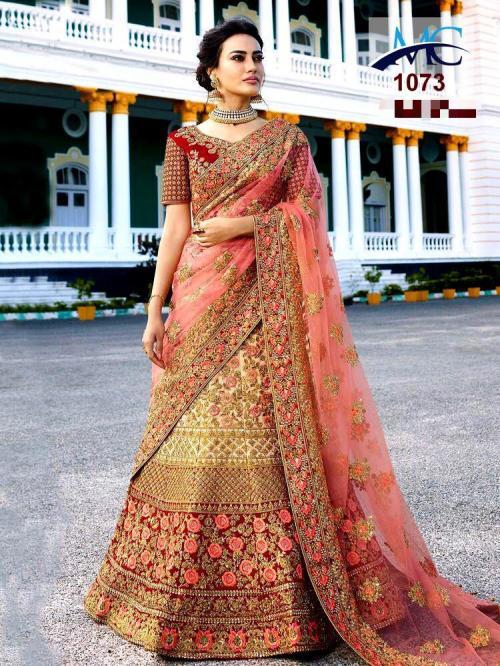 MC 1073 Cream Color Designer Wedding Lehenga
