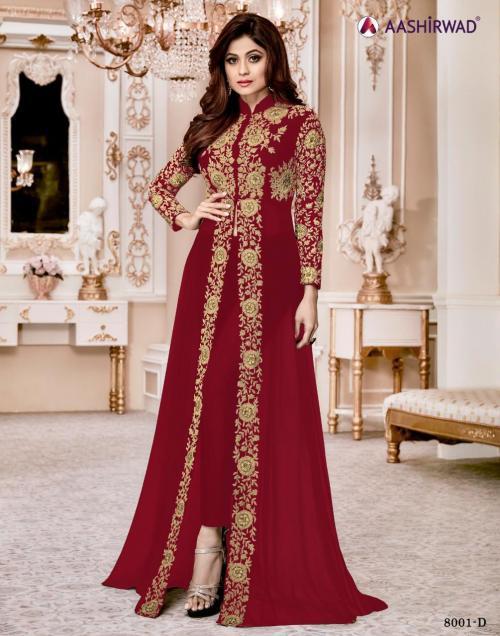 Aashirwad Creation Shamita Gold 8001 New Colors