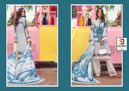 Shraddha Designer Vintage 1003 Price - Chiffon Dup-625 , Cotton Dup-675
