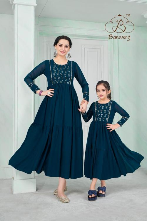 Banwery Fashion Me & Mom 1002 Price - Combo Rate :1149, Mother Rate: 750 ,Daughter :-450