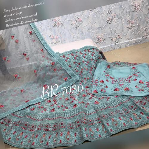 BR Lehenga Choli Lucknowi Work BR-7030-E Price - 4459