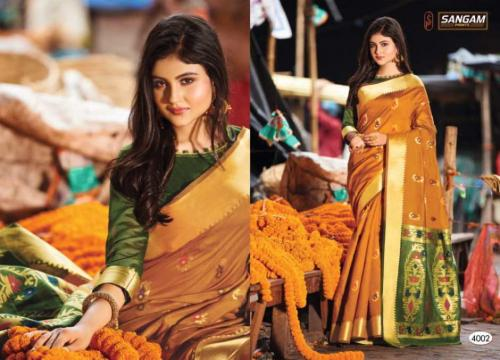 Sangam Prints Aaradhya Handloom 4002 Price - 1125