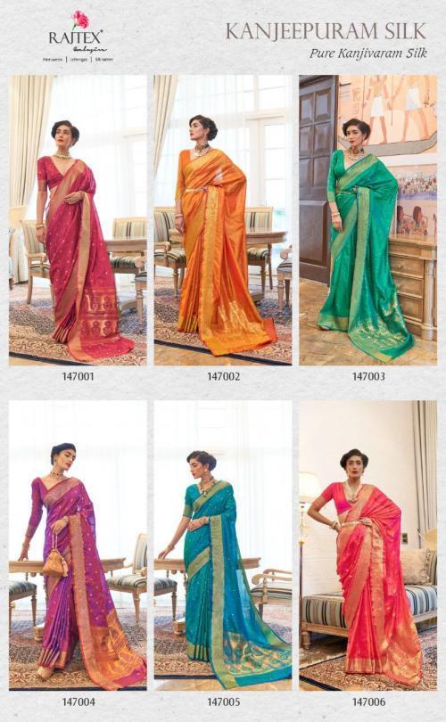Rajtex Saree Kanjeepuram Silk 147001-147006 Price - 7470