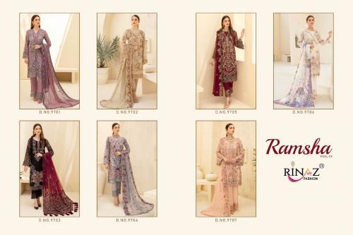 Rinaz Fashion Ramsha 9701-9707 Price - 9443