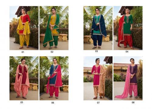 Kessi Fabrics Diamond Patiyala 01-08 Price - 7592