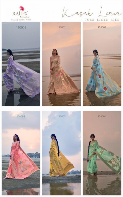 Rajtex Saree Kasak Linen 150001-150006 Price - 9360