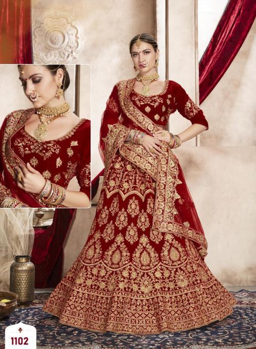 Shehnai Lehenga Bridal Heritage 1102 Price - 5495