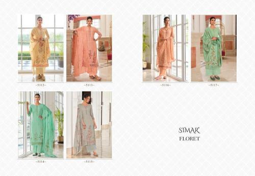Glossy Simar Floret 5112-5117 Price - 11070