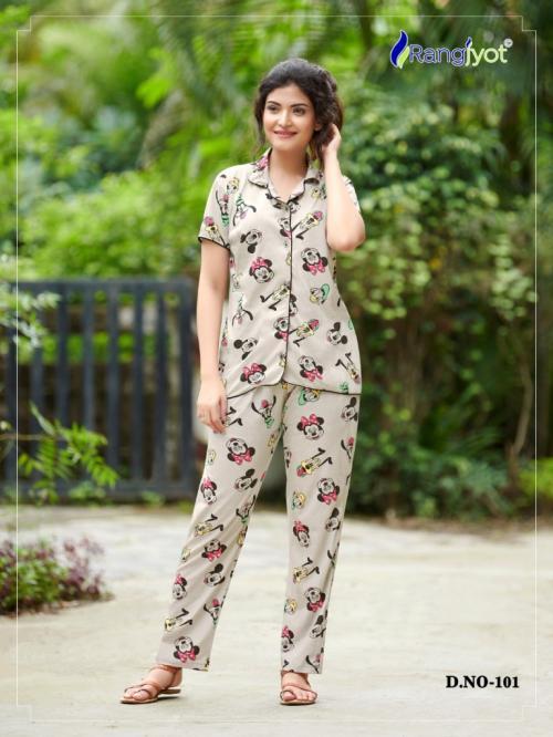 Rang Jyot Night Wear Vol-21 101-108 Series