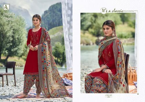 Alok Suits Patiyala Fusion 1725-007 Price - 700