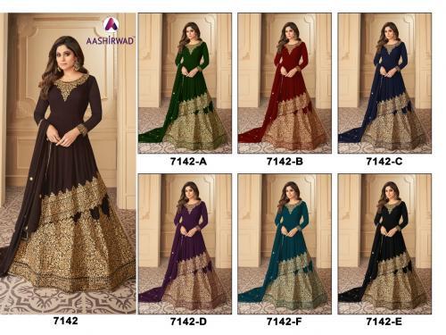 Aashirwad Creation Gulkand Tahira 7142 Mester Colors Price - 11700