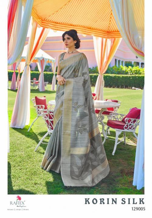 Rajtex Saree Korlin Silk 129005 Price - 1245