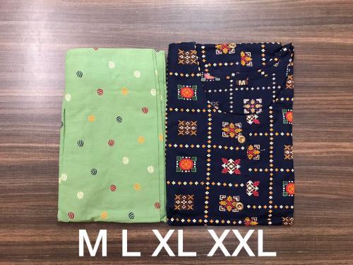 Non Catalog Printed Cotton Kurti With Pant