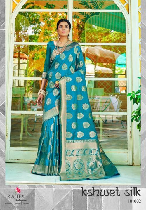 Rajtex Kshwet Silk 101002  Price - 1460