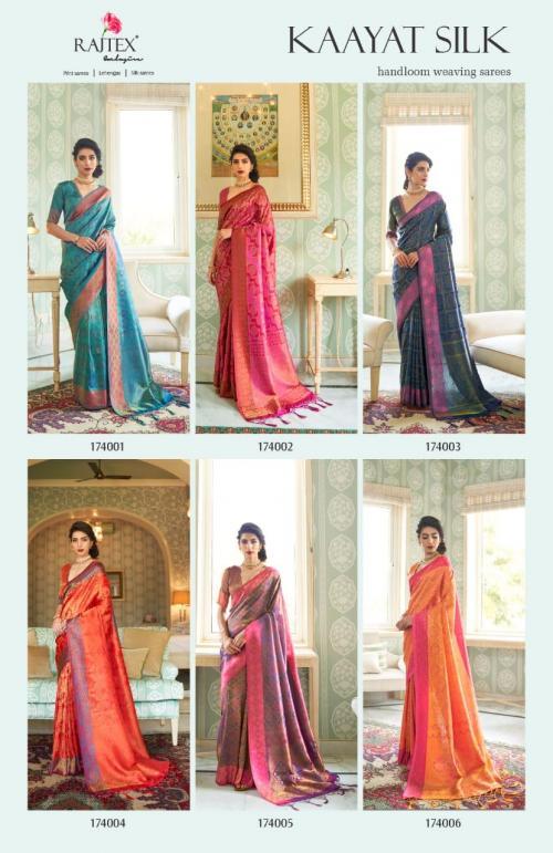 Rajtex Saree Kayaat Silk 174001-174006 Price - 10170