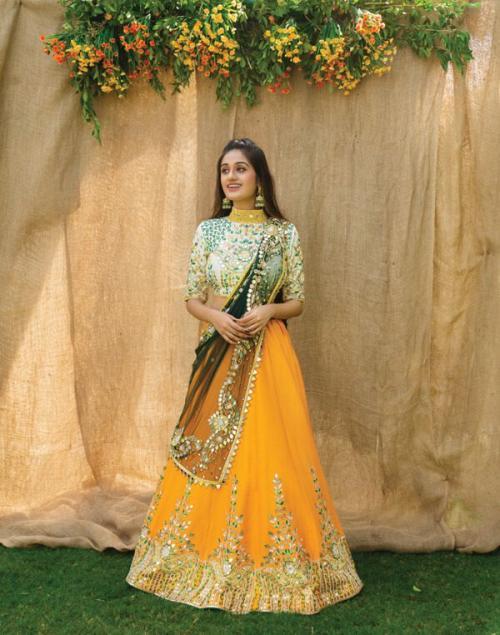 Bollywood Real Mirror Work Designer Lehenega LG-398 Design