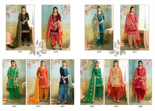 Kessi Fabrics Silk Patiyala 5371-5380 Price - 8990