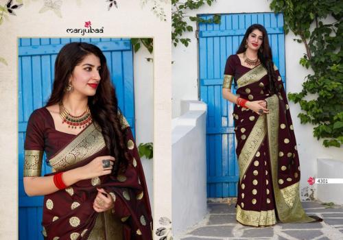 Manjuba Saree Mahadevi Silk 4301-4304 Series