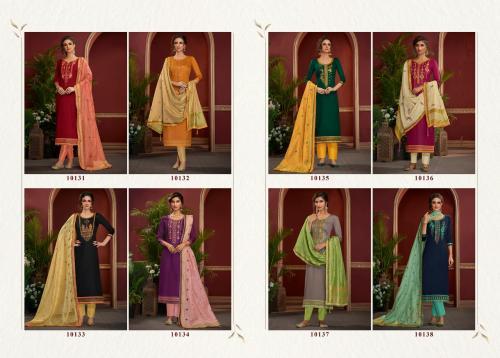 Kessi Fabrics Ramaiya Palkhi 10131-10138 Price - 6392