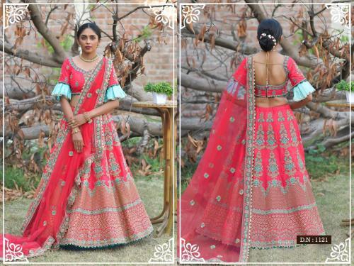 Peafowl Vol-76 Bridal Lehenga 1121 Price - 3533