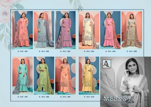 Harshit Fashion Hub Melody 814-001 to 814-010 Price - 9500