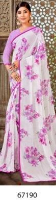 Antra Saree White Diamond 67190 Price - 538