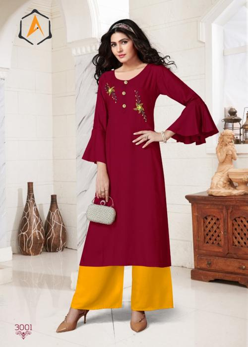 Apple Abhushan wholesale Kurti catalog