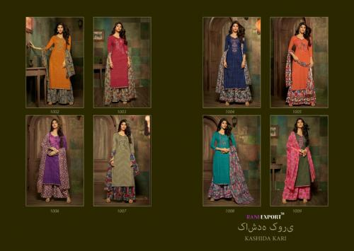 Rani Exports Kashida Kari 1002-1009 Price - 5560