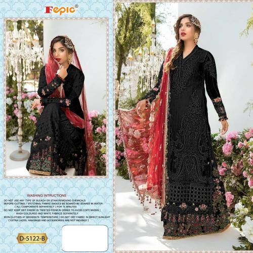 Fepic Rosemeen 5122-B Black Dress