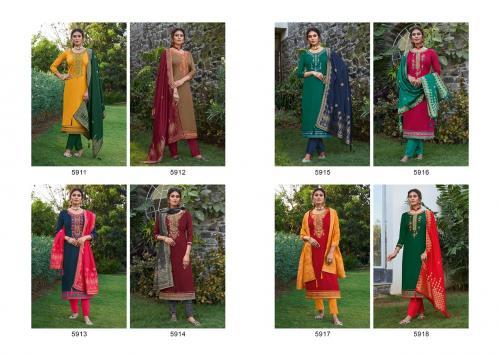 Kessi Fabric Virasat 5911-5918 Price - 8392