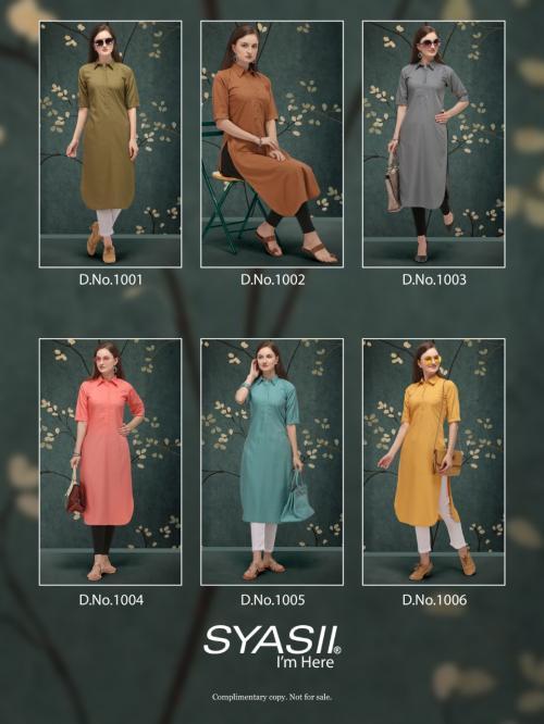 Syasii Designers Classic 1001-1006 Price - 2250