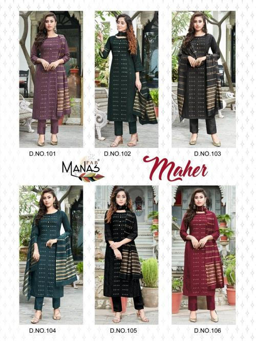 Manas Fab Maher 101-106 Price - 9594
