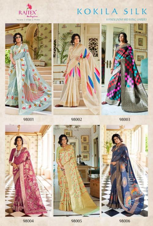 Rajtex Saree Kokila Silk 98001-98006 Price - 8160