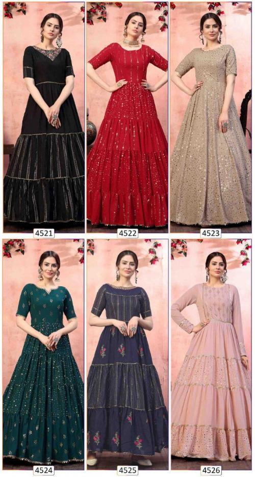 Shubhkala Khusboo Flory 4521-4526 Price - 9400