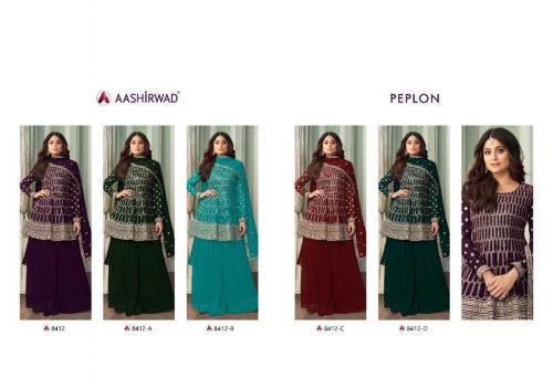 Aashirwad Creation Peplon 8412 Colors  Price - 12475