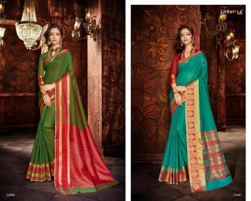 Lifestyle Saree Khadi Silk 55886-55887 Price - 1196