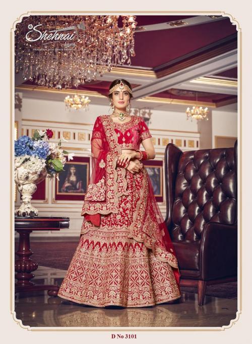 Shehnai Lehenga Bridal Eisha 3101-3108 Series