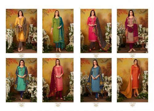 Kessi Fabrics Ramaiya Zanzar 10101-10108 Price - 6392