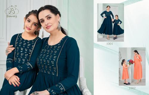 Banwery Fashion Me & Mom 1001-1002 Price - Combo Rate :2298, Mother: 1500 Daughter :-900