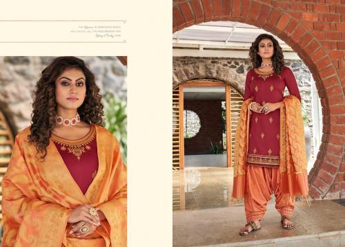 Kessi Fabrics Silk By Patiyala 4008 Price - 949
