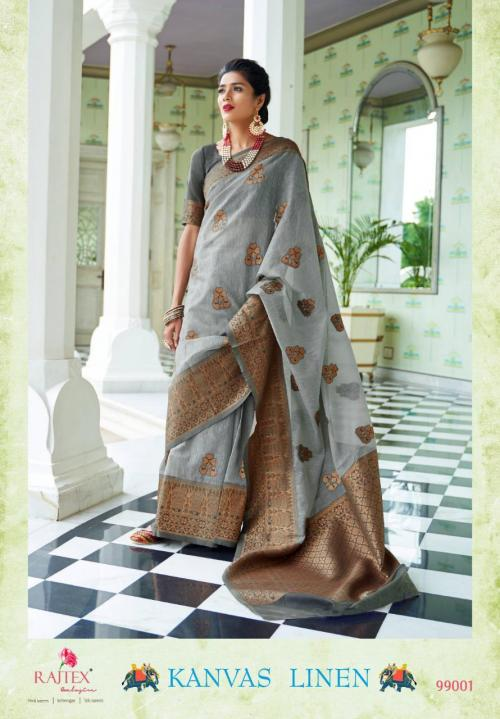 Rajtex Saree Kanvas Linen wholesale saree catalog