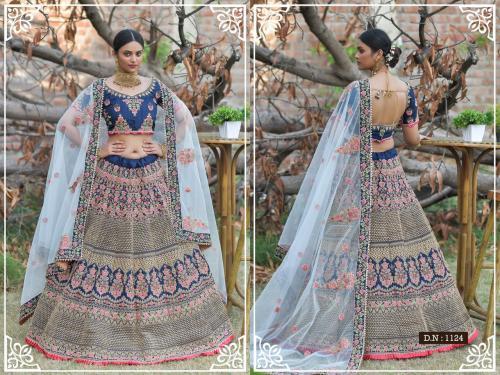 Peafowl Vol-76 Bridal Lehenga 1124 Price - 3533
