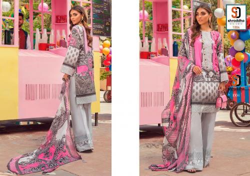 Shraddha Designer Vintage 1004 Price - Chiffon Dup-625 , Cotton Dup-675