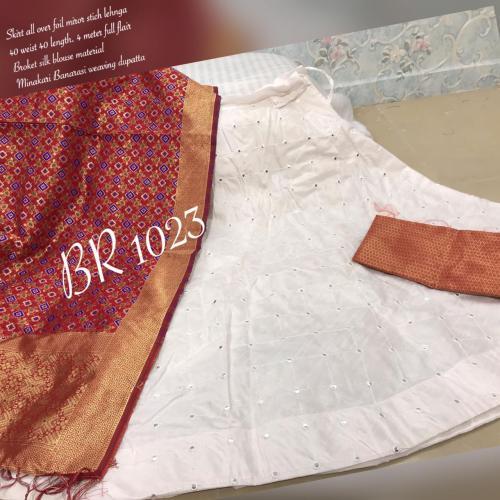 BR Designer Foil Mirror Work Designer Lehenga Choli BR-1023-I Price - 1850