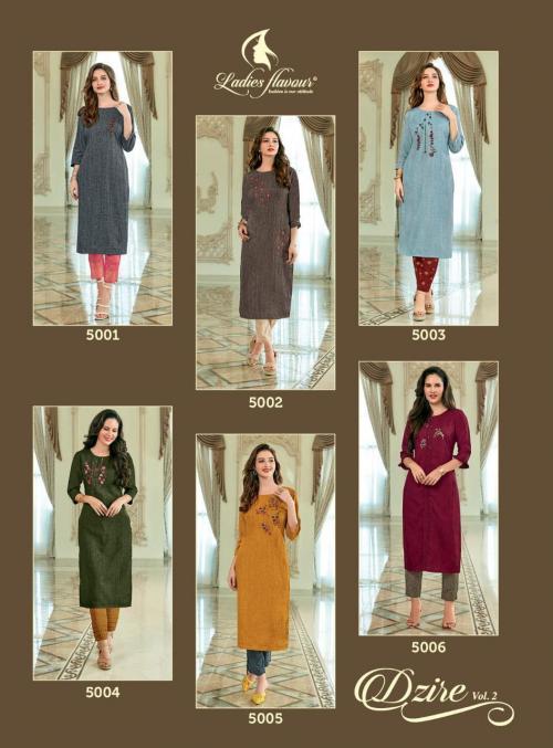 Ladies Flavour Dzire 5001-5006 Price - 4950