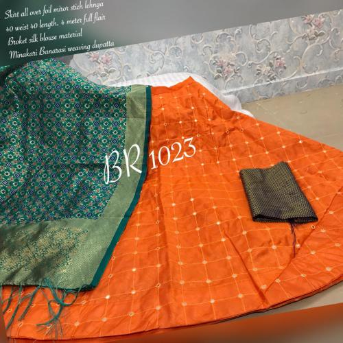 BR Designer Foil Mirror Work Designer Lehenga Choli BR-1023-E Price - 1850